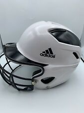 Adidas White/Black Trilogy Fast Pitch Helmet w Face Guard NWOT 6 5/8 - 7 5/8