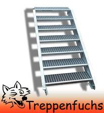 7 Stufen Stahltreppe Breite 90 cm Geschosshöhe 100-140cm inkl. Zubehör