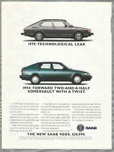 1994 SAAB 900 advertisement page, Saab 900 Convertible print ad