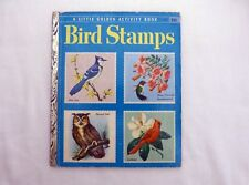 Little Golden Activity book A8 Bird Stamps, stamps pasted in place 1955 copy #A