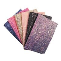 1pcs Glitter Synthetic Leather Fabric Party Wedding Decor DIY Hair bow Materials