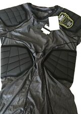 Men's L Nike pro combat Grey Striped Football Padded compression shirt Nwt #455