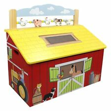 Fantasy Fields Teamson Happy Farm Childrens Large Wooden Storage Kids Toy Box