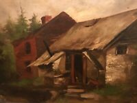 Antique Oil Painting Prepared by Windsor & Newton 38 Rathbone Place Circa 1800's