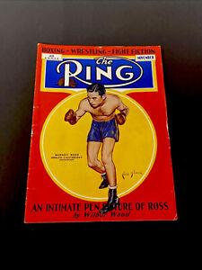 Vtg Nov 1933 Ring Boxing Magazine Barney Ross Light Weight Champion Cover 🔥