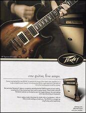 Hartley Peavey 2005 HP Signature USA Custom guitar & Penta amp 8 x 11 ad print