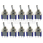 10x Mini ON/OFF/ON Toggle Flick Switch 6A 12V SPDT 3 Pin Car Model Train Railway
