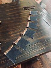 Super Cute Bunting Banner Cotton Fabric/Ribbon Dark Denim, Giraffe, Brown