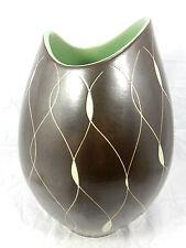 "Beautiful  / schöne 50´s "" Fischmaul "" design Steuler Keramik Vase 3966 33 cm"