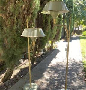HTF Pair Vintage M G Wheeler Sight Light Mid Century Atomic Age Floor Lamp