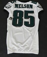 #85 Nelson Authentic Game Issued/Player Worn Eagles Nike Jersey