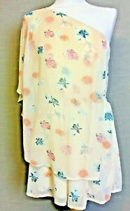 Soft floral chiffon effect playsuit with pockets and overlay