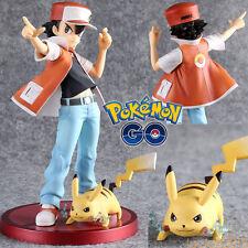 ARTFX Pokemon Ash Ketchum Pikachu Red Pocket Monster PVC Figure Figurine