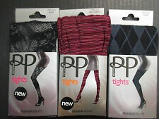 (3) PRETTY POLLY FASHION TIGHTS - ONE SIZE FITS MOST - EL 1340