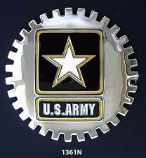CAR GRILLE EMBLEM BADGES - MILITARY - NEW USARMY LOGO