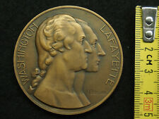 MEDAILLE BRONZE M.DELANNOY WASHINGTON & LAFAYETTE EXPOSITION COLONIALE 1931