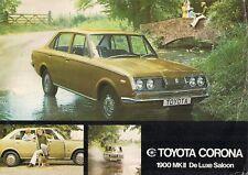 Toyota Corona Mark II 1900 De Luxe Saloon 1971-72 UK Market Leaflet Brochure