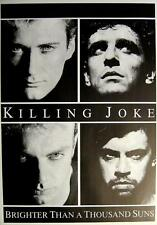 "KILLING JOKE POSTER ""BRIGHTER THAN A THOUSAND SUNS"""
