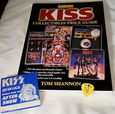 LOOK KISS Goldmine Collectors guide + bonus Ace guitar pick & pass! $55+ retail