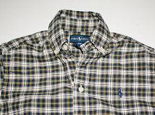Ralph Lauren green plaid shirt top Holiday Christmas Fall boys S 8 Mint Cond. Ln