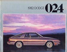 DODGE Omni 024 Miser CUSTOM CARICABATTERIE 2.2 1982 USA delle vendite sul mercato opuscolo