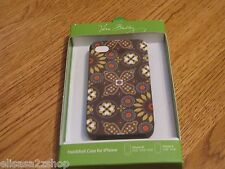 Vera Bradley case Iphone 4S 4  RARE Hardshell Canyon 12430-130 hard shell brown