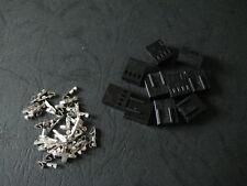 10pcs 4 Pin Cooling Fan Connnector Female Plug Black Jack PCB Wire Plug 2.54mm