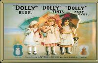 Dolly Girls Panneau Métallique Plaque 3D en Relief Voûté Métal Étain 20 X 30 CM