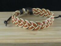 Woven Leather Unisex Bracelet Adjustable Band