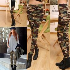 Sexy Fashion Women Skinny Print Pants Stretch Jeggings Legging Camouflage