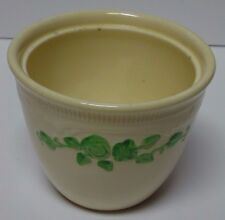 Vtg 1935 HLC896 HOMER LAUGHLIN HLC OVEN SERVE BEAN POT Green Embossed Flowers