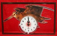 Horloge pendule animaux becasse 2 clock uhr reloj