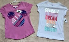 GapKids Junk Food Mickey Mouse & Gap Fit, Girls T-Shirts, Lot of 2, Size 6-7