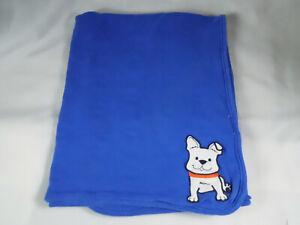 Carters Blue Gray Baby Blanket White French Bulldog Crib Blanket