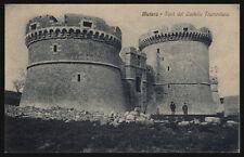 cartolina MATERA torri del castello tramontana