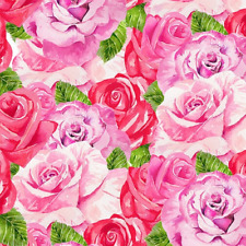 New ListingValentine'S Day Heart & Soul By Henry Glass Love Red Pink Roses Fabric 1/2 Yard