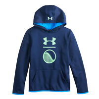 Under Armour Boys Youth Hooded Sweatshirt Brand New Free Shipping Blue Baseball