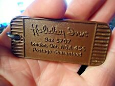 vintage Holiday Inn London Ontario Canada Hotel Key & Green Fob Room 257 - NR