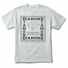 Diamond Supply Co. Mens S/S T-Shirt SQUARE CITY Skate WHITE Streetwear S-XL $30