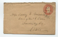 1850s U4 Nesbitt envelope Ashtabula Ohio with crest [5775.10]