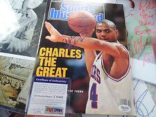 Charles Barkley auto PSA/DNA COA Sports Illustrated 76er signed autograph TNT