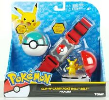 Pokemon Clip N Carry Poke Ball Belt  Tomy Pikachu Exclusive Net Pokeball Gift