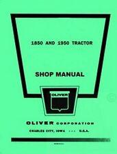 Oliver 1850 1950 Gas Diesel Tractor Shop Service Manual