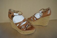 Corso Como Women's Daytime Brown Leather Platform Wedges 10 M