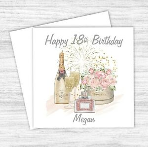 Personalised Birthday Card 18, 21, 30, 40, 50, 70 Any Age Daughter Granddaughter