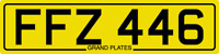 DATELESS PRIVATE NUMBER PLATE FFZ 446 CHERISHED REG COVER NON DATING CHEAP FF