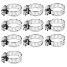 "50pcs 1/2""-3/4"" Stainless Steel Adjustable Drive Hose Clamp Fuel Line Worm Clip"