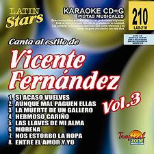 Karaoke Latin Stars 210 Vicente Fernandez Vol.3