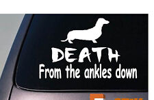 "Dachshund DEATH from the ankles down 6""  decal JDM TURBO low import *A003*"