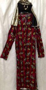 Egyptian King Costume, Robe, Headscarf, Size L/XL